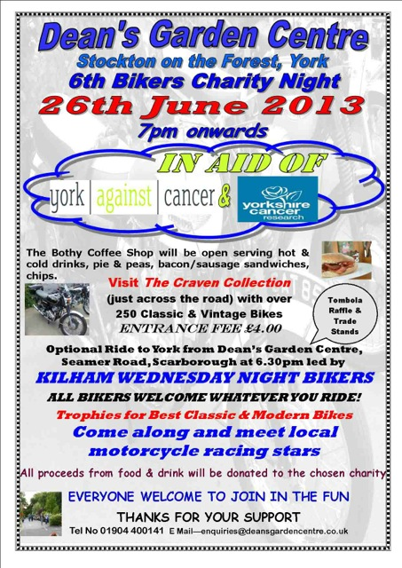 Bikers Charity Poster 2013